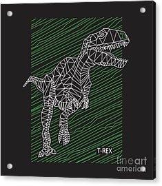 Dinosaur T Rex Illustration Acrylic Print