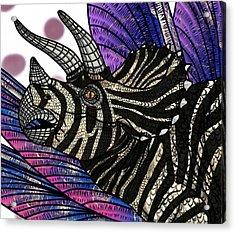 Dinosaur Triceratops Head Acrylic Print