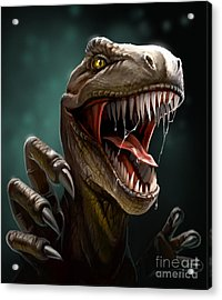 Dinosaur With Teeth And Claws, Close-up Acrylic Print