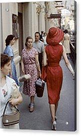 Dior In Moscow Acrylic Print by Howard Sochurek