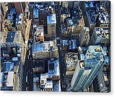 Directly Above Shot Of City Acrylic Print by Gavin Pugh / Eyeem