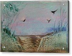 Dirt Road Through A Valley Acrylic Print