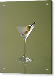 Dirty Martini With Olive Garnish On Acrylic Print