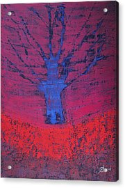 Disappearing Tree Original Painting Acrylic Print
