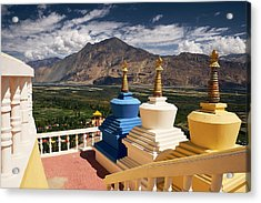 Acrylic Print featuring the photograph Diskit Gompa by Whitney Goodey