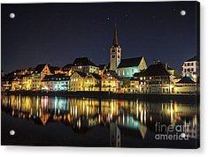 Dissenhofen On The Rhine River Acrylic Print