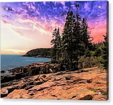 Distant View Of Otter Cliffs,acadia National Park,maine. Acrylic Print