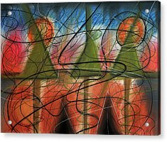 Disturbance At Lake Acrylic Print