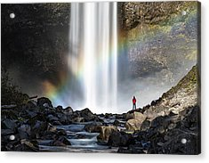 Acrylic Print featuring the photograph Divine Hand Shadow At Brandywine Falls by Pierre Leclerc Photography