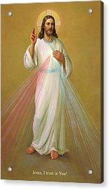 Divine Mercy - Divina Misericordia Acrylic Print by Svitozar Nenyuk