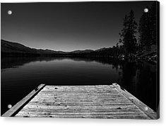 Dock At Dusk Acrylic Print