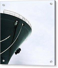 Docked Cargo Ship, Low Angle View Acrylic Print