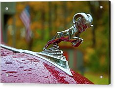 Acrylic Print featuring the photograph Dodge Ram Hood Ornament by Joann Vitali