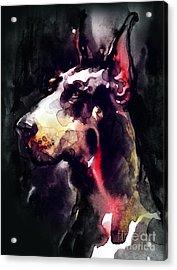 Dog  Watercolor Animal Acrylic Print
