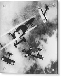 Dogfight Acrylic Print by Hulton Archive
