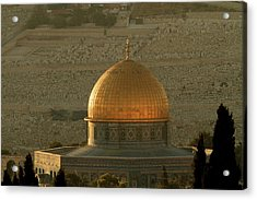 Dome Of The Rock Mosque In Jerusalem Acrylic Print by Picturejohn