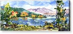 Donner Lake Fisherman Acrylic Print