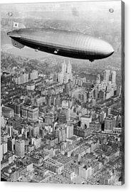 Doomed Airship Acrylic Print by Hulton Archive