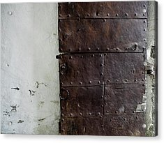 Acrylic Print featuring the photograph Door At Kristiansten Fortress In Trondheim, Norway by Whitney Leigh Carlson