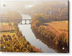 Dordogne River In The Mist Acrylic Print