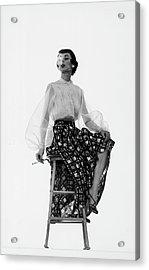 Dorian Leigh Models Acrylic Print by Gjon Mili