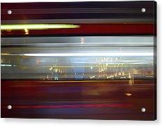 Double Decker Bus Blur 2 Acrylic Print