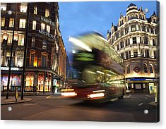 Double Decker Bus Blur Acrylic Print