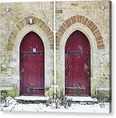 Acrylic Print featuring the photograph Double Doors by Tim Gainey