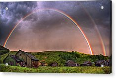 Double Rainbow Rebirth Acrylic Print