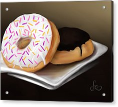 Acrylic Print featuring the painting Doughnut Life by Fe Jones