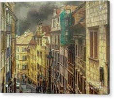 Downhill, Downtown, Prague Acrylic Print