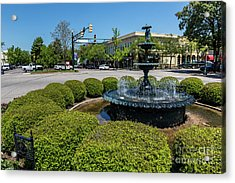 Downtown Aiken Sc Fountain Acrylic Print