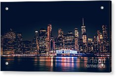 Downtown At Night Acrylic Print