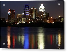 Downtown Austin Skyline Acrylic Print by Xjben