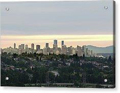 Downtown Sunset Acrylic Print