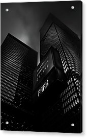 Acrylic Print featuring the photograph Downtown Toronto Fogfest No 16 by Brian Carson