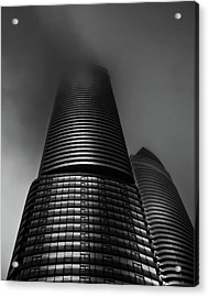 Acrylic Print featuring the photograph Downtown Toronto Fogfest No 21 by Brian Carson