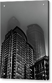 Acrylic Print featuring the photograph Downtown Toronto Fogfest No 22 by Brian Carson