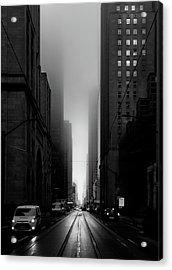 Downtown Toronto Fogfest No 26 Acrylic Print