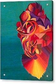 Dragon Koi Acrylic Print by Jonathan Favors