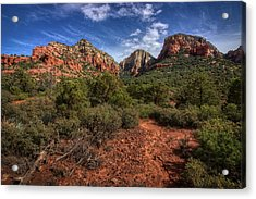 Dramatic Cloudscape Over Capitol Butte Acrylic Print