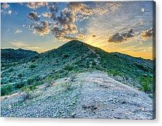 Dramatic Mountain Sunset Acrylic Print
