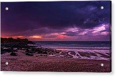 Dramatic Sky At Porthmeor Acrylic Print