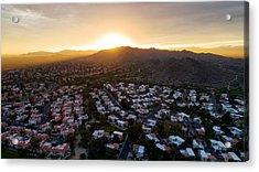Dramatic South Mountain Sunset Acrylic Print