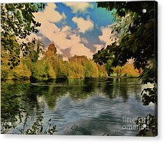 Acrylic Print featuring the photograph Drawn To Water by Leigh Kemp