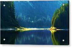 Dreamlike Focus Of Merrill Lake Acrylic Print