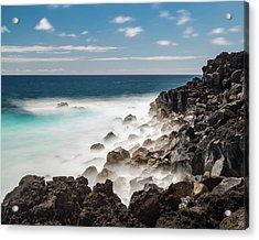 Dreamy Hawaiian Coastline Acrylic Print