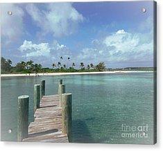 Dreamy View Beach Acrylic Print