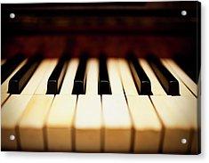 Dreamy Piano Keys Acrylic Print by Rapideye