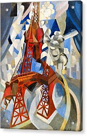 Digital Remastered Edition - Red Tour Eiffel Acrylic Print